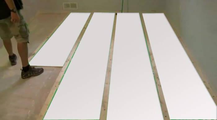 Плитки пеноплекса монтируемые на бетон