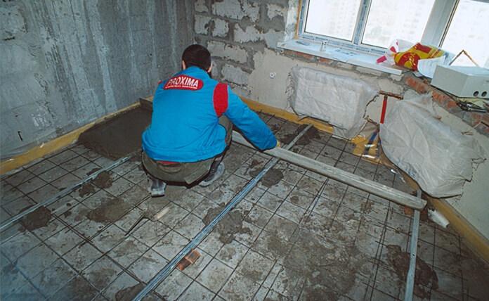 Как сделать бетонную стяжку стен