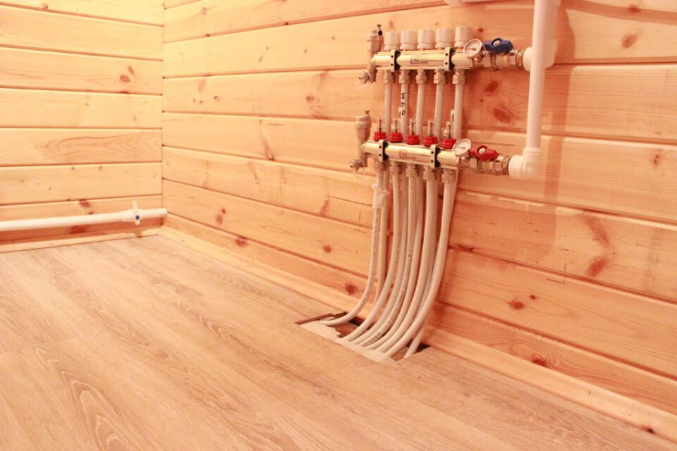 Теплый водяной пол на деревянной основе