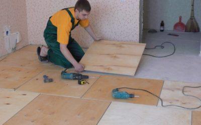 Как самому уложить фанеру на бетонный пол