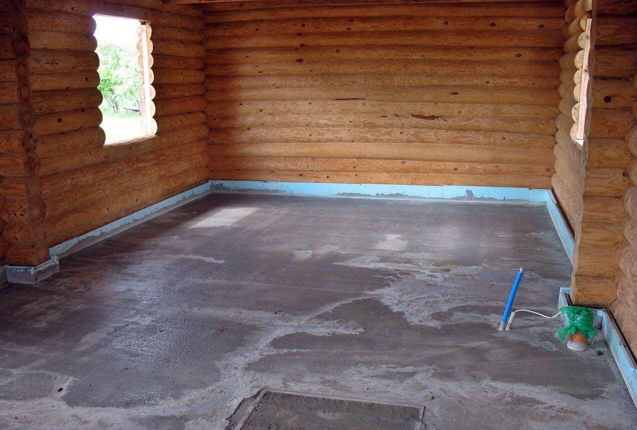 Залитая бетонная основа