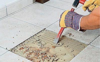Как правильно снять плитку с пола