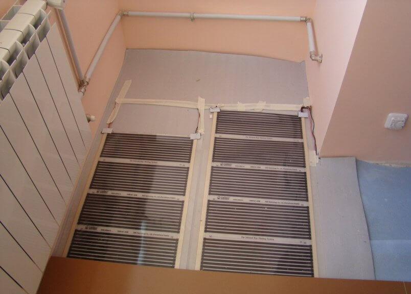 Тёплый инфракрасный пол на балконе