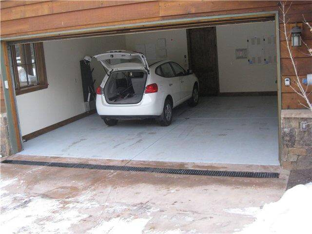 Утепленный пол гаража