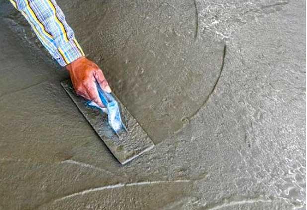 Как железнить бетонный пол цементом инструкция