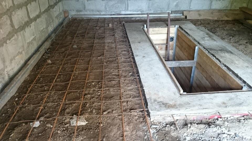 Заливка пола в гараже бетоном своими руками пропорции