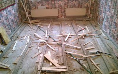 Как в квартире заменить деревянный пол на бетонный