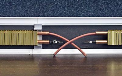 Плинтус с электрическим нагревателем