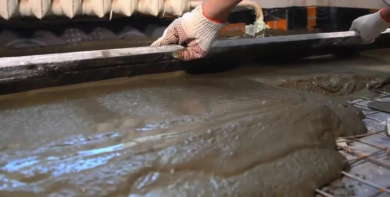 Армирование сеткой плавающую стяжку