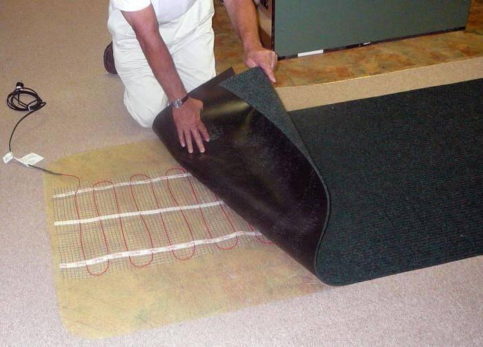 Электрический кабель под ковролин