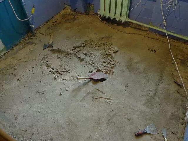 Пример стяжки требующей демонтаж