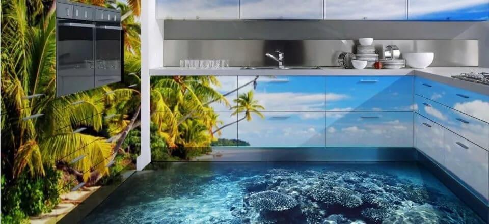 3D исполнение на кухне