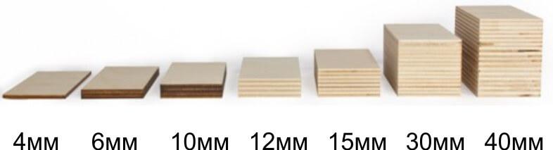 Виды толщин фанеры - выбираем потолще