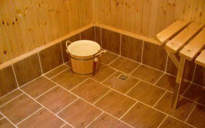 Напольная плитка в бане: особенности укладки