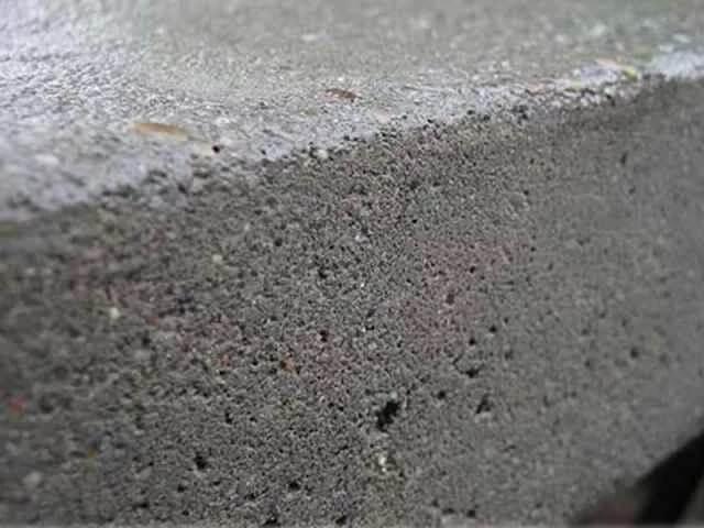 Пористая структура бетона