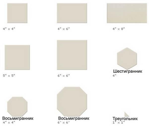 Многогранные форматы плитки