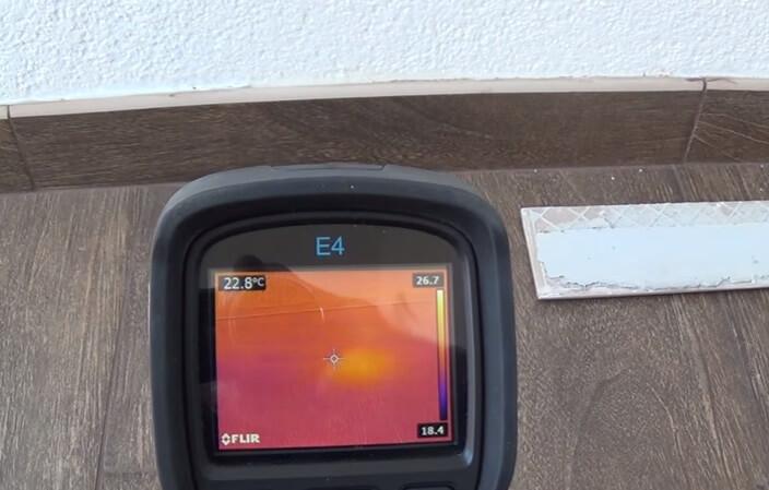 Поиск повреждения с использованием тепловизора