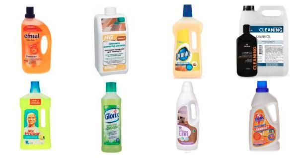 Распространенные средства для чистки ламината