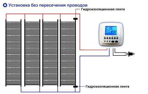 Схема для подключения проводов с разных сторон