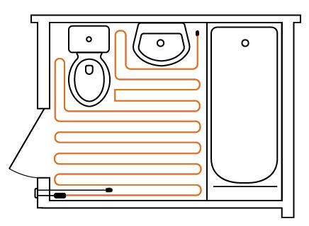 Классический кабель - идеальное решение для санузла